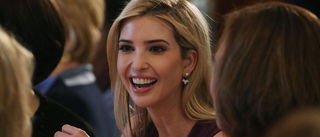 Ivanka Trump attends at a luncheon she was hosting to mark International Women's Day in the State Dining Room at the White House March 8, 2017 in Washington, D.C. (Photo by Mark Wilson/Getty Images)
