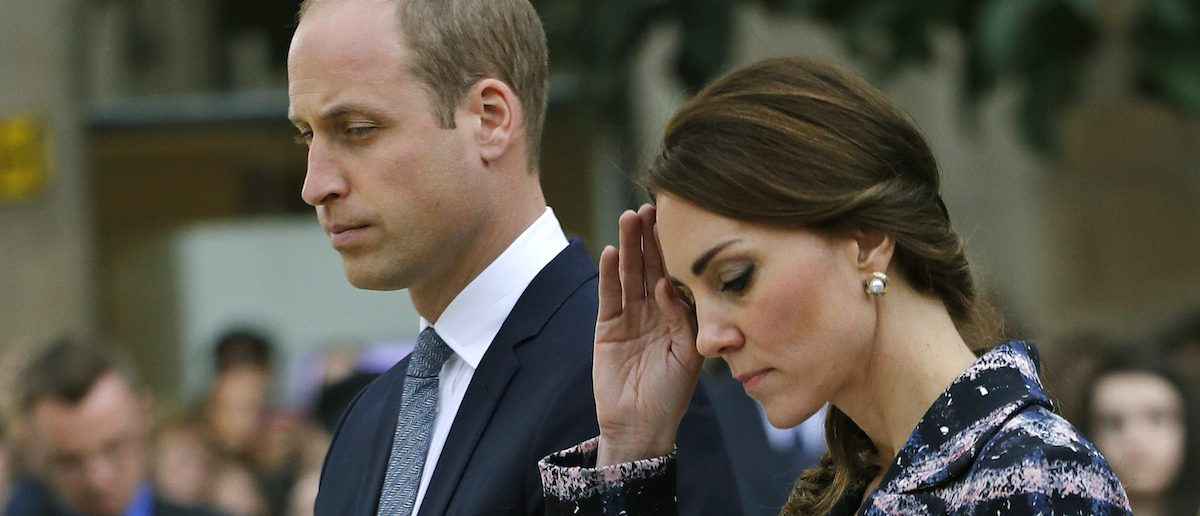 Britain's Prince William and his wife Catherine, Duchess of Cambridge, attend a paving stone ceremony for Victoria Cross recepients, at the Manchester Cenotaph in Manchester, Britain October 14, 2016. REUTERS/Darren Staples