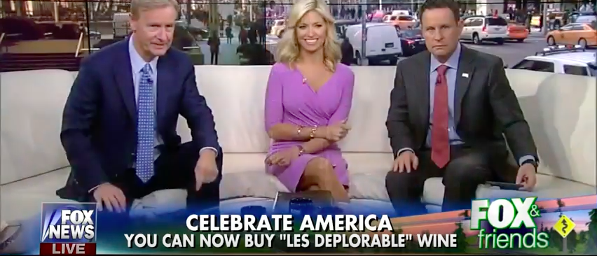 'Les Deplorables' Wine featured on Fox & Friends (Fox News/YouTube screenshot)