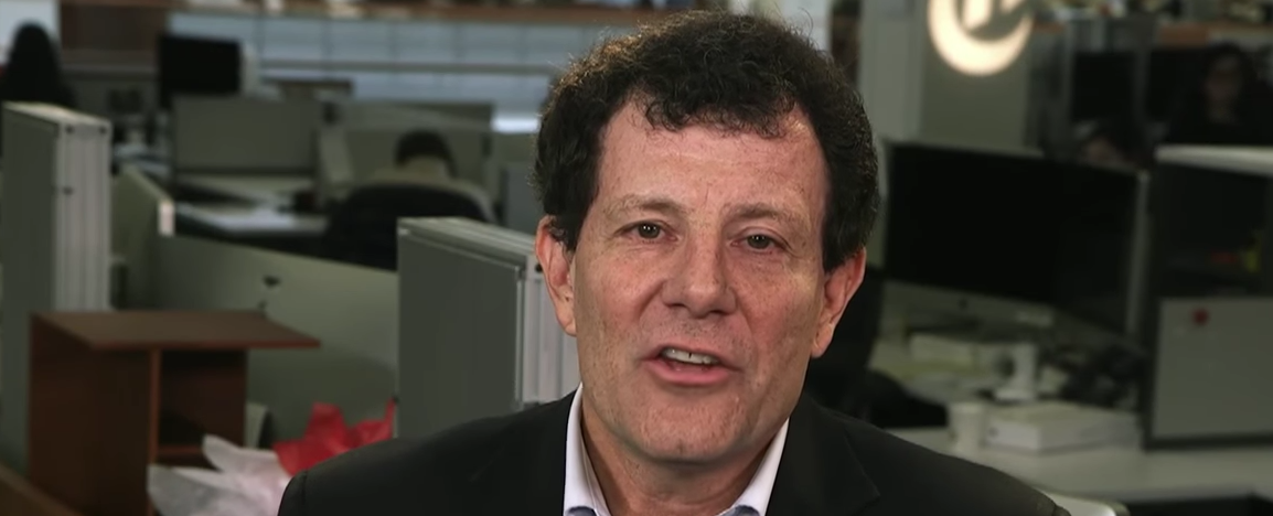 NYT columnist Nicholas Kristof (YouTube screen grab)