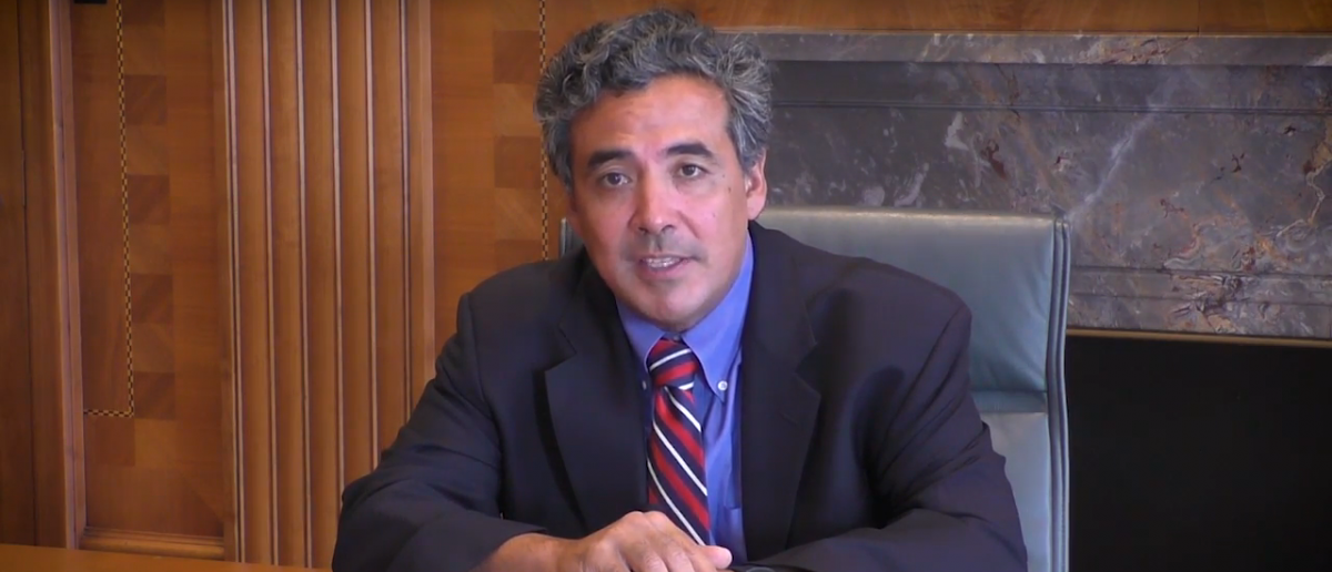 Noel Francisco, speaking during his time as a partner at Jones Day. Credit: YouTube screen grab: https://www.youtube.com/watch?v=QLLj0aUIhn4