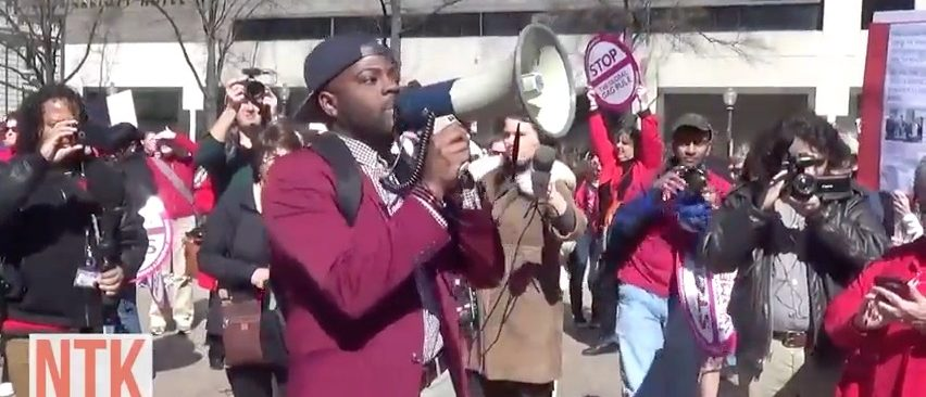 Man leads 'Day Without Women' Protest in DC (YouTube)