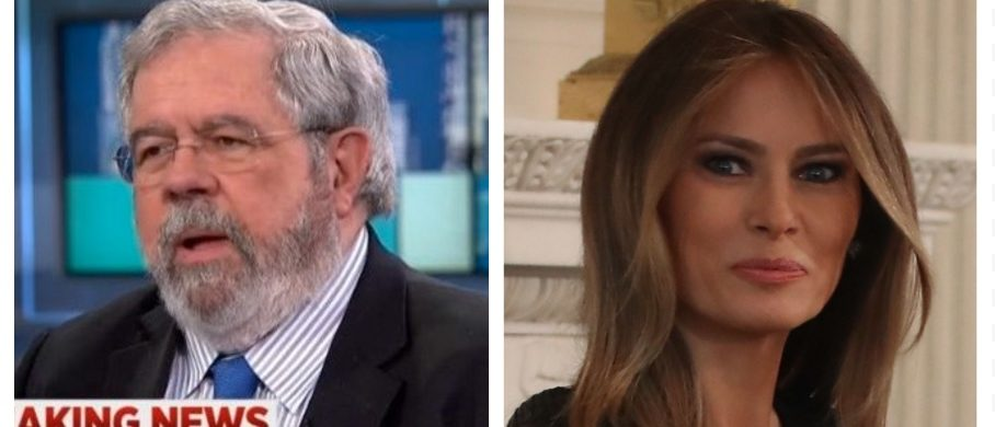David Cay Johnston, Melania Trump (MSNBC, Getty images)