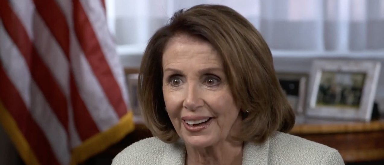 Nancy Pelosi (CBS screen shot)