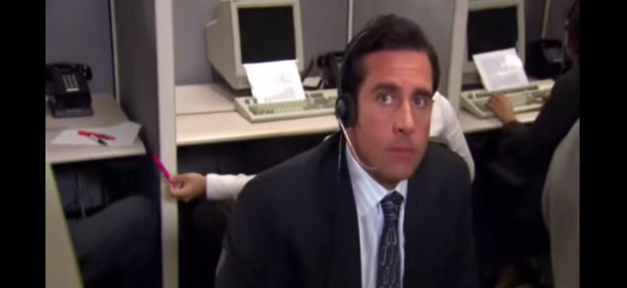 The Office - Telemarketer Scene [YouTube/Screenshot - User: nemca21]