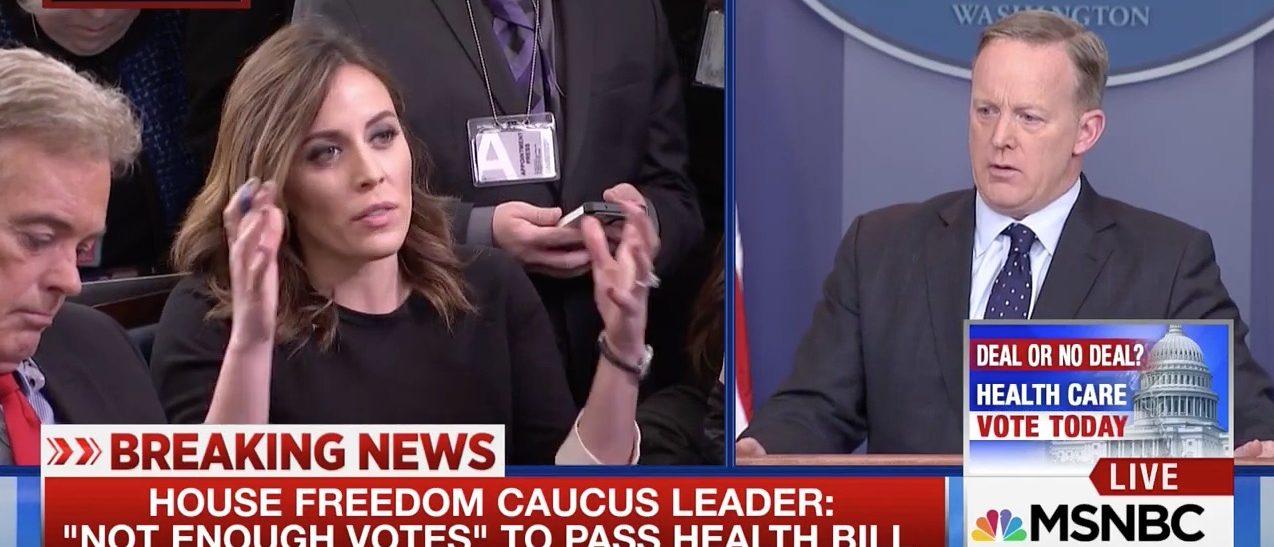 Hallie Jackson, Sean Spicer (MSNBC)