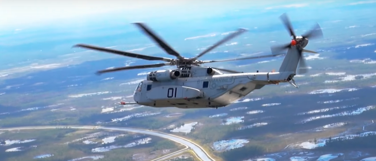 The CH-53K King Stallion helicopter during operational testing (YouTube screengrab/LockheedMartinVideos)