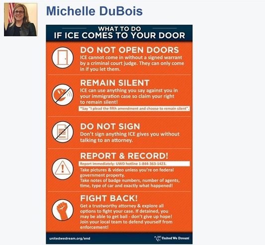 screenshot: Rep. Michell DuBois Facebook