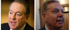 Mike Huckabee HEAVILY IMPLIES That Lindsey Graham Is Gay [AUDIO]