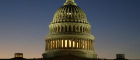 The U.S. Capitol Building is lit at sunset in Washington, U.S., December 20, 2016. REUTERS/Joshua Roberts