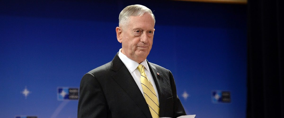 "US Secretary of Defence James Mattis arrives to address a press conference following the NATO Defence Ministers' meeting at the NATO headquarters in Brussels, on February 16, 2017. The US military is not yet ready to cooperate with Russia, Pentagon chief James Mattis said on February 16 after Moscow's defence minister called for better ties. ""We are not in a position right now to collaborate on a military level, but our political leaders will engage and try to find common ground or a way forward,"" Mattis told reporters at the NATO summit in Brussels. Thierry Charlier/AFP/Getty Images."