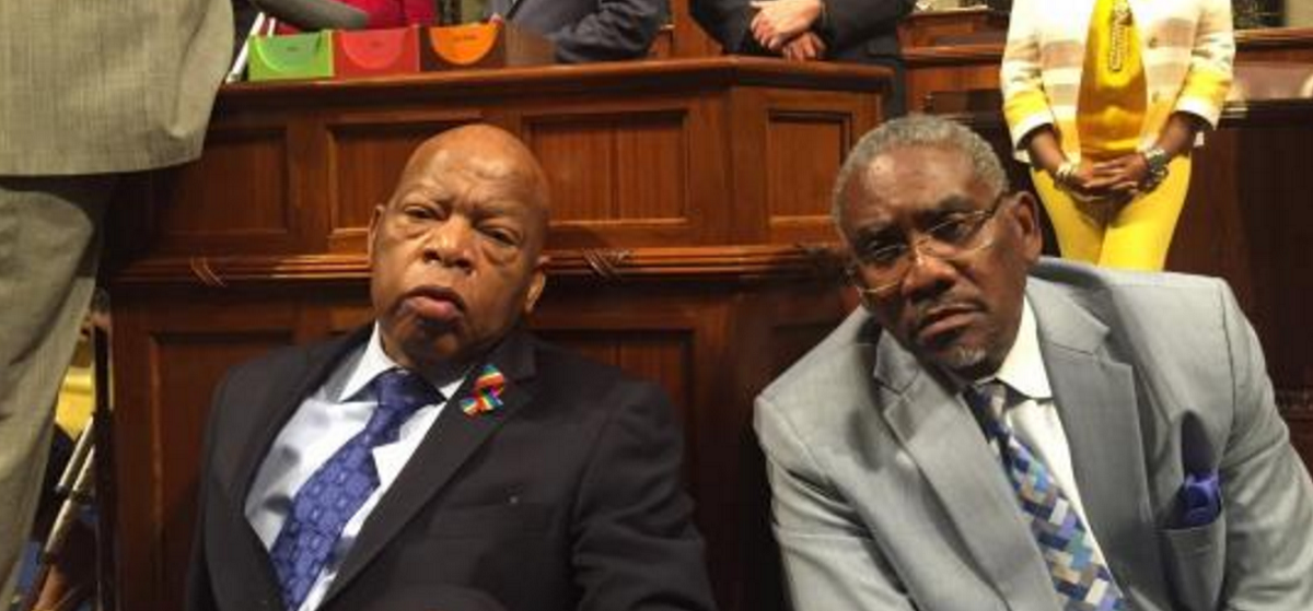 Here is a photo of Reps. Gregory Meeks and Elijah Cummings. (Photo: Meeks Congressional office)
