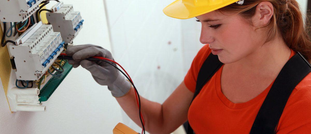 Portrait of a technician (Shutterstock/Phovoir)