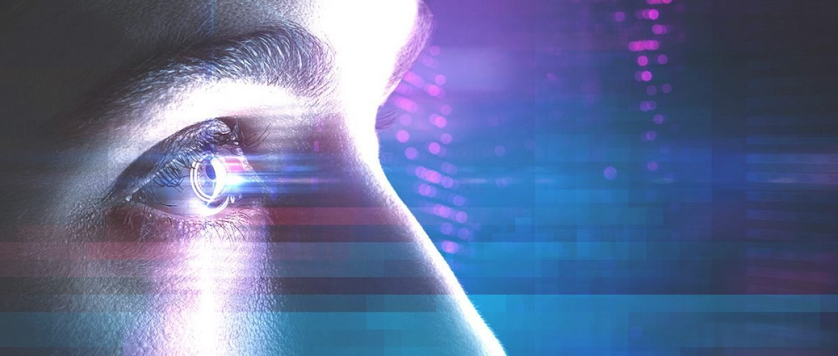 Eye-scanning and facial recognition technology. [Shutterstock - lassedesignen]