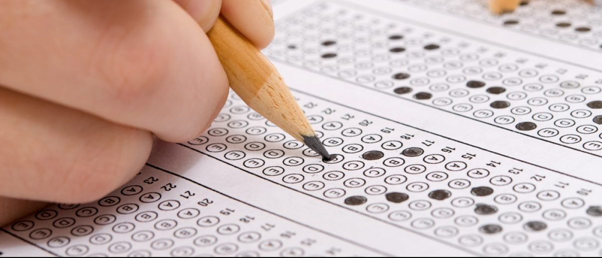 Multiple choice examination form. [Shutterstock - Levent Konuk]