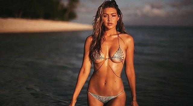 Gigi Hadid rocked this bikini shot from her SI Swimsuit shoot.