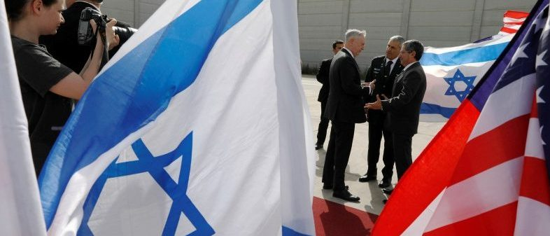U.S. Defense Secretary James Mattis bids farewell to Israeli military dignitaries as he departs from Ben Gurion International Airport, Tel Aviv, Israel April 21, 2017. REUTERS/Jonathan Ernst
