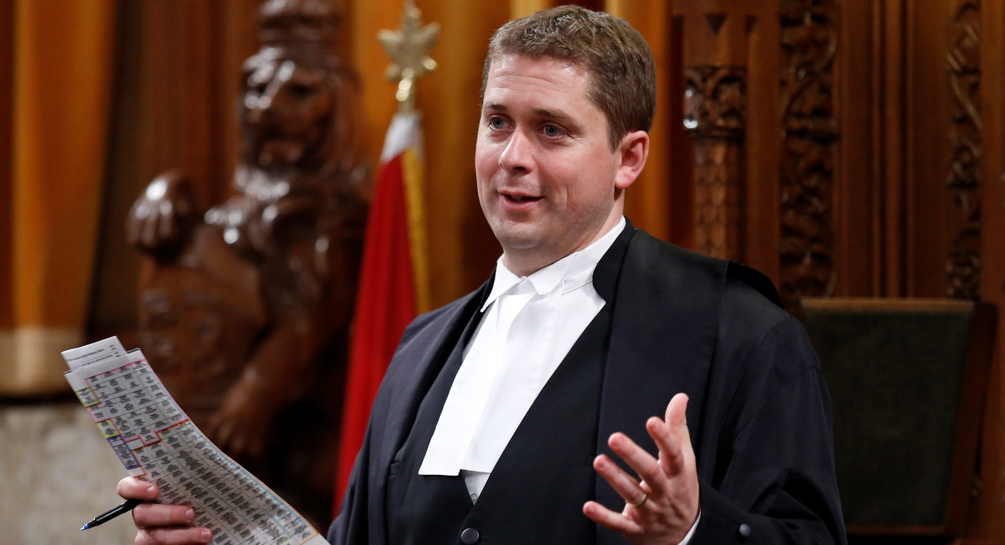 RTR3S25I 3 Jun. 2014 Ottawa, Canada House of Commons Speaker Andrew Scheer presides over Question Period in the House of Commons on Parliament Hill in Ottawa June 3, 2014. REUTERS/Chris Wattie (CANADA - Tags: POLITICS)