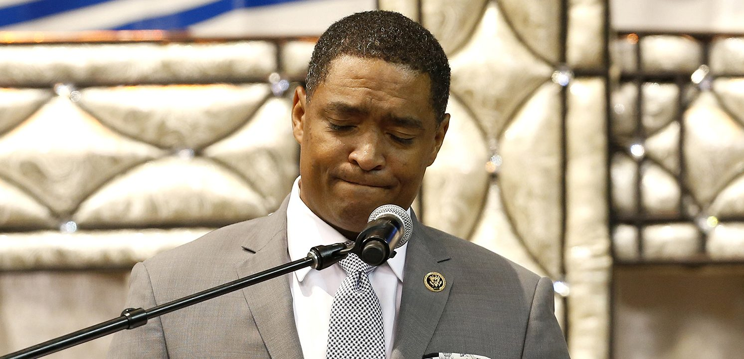 U.S. Representative Cedric Richmond, speaks during the funeral of Alton Sterling, in Baton Rouge, Louisiana, U.S. July 15, 2016. (PHOTO: REUTERS/Jonathan Bachman)
