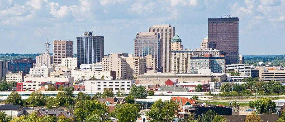 Skyline of Dayton, Ohio and Surrounding Neighborhoods. (Ami Parikh/shutterstock)