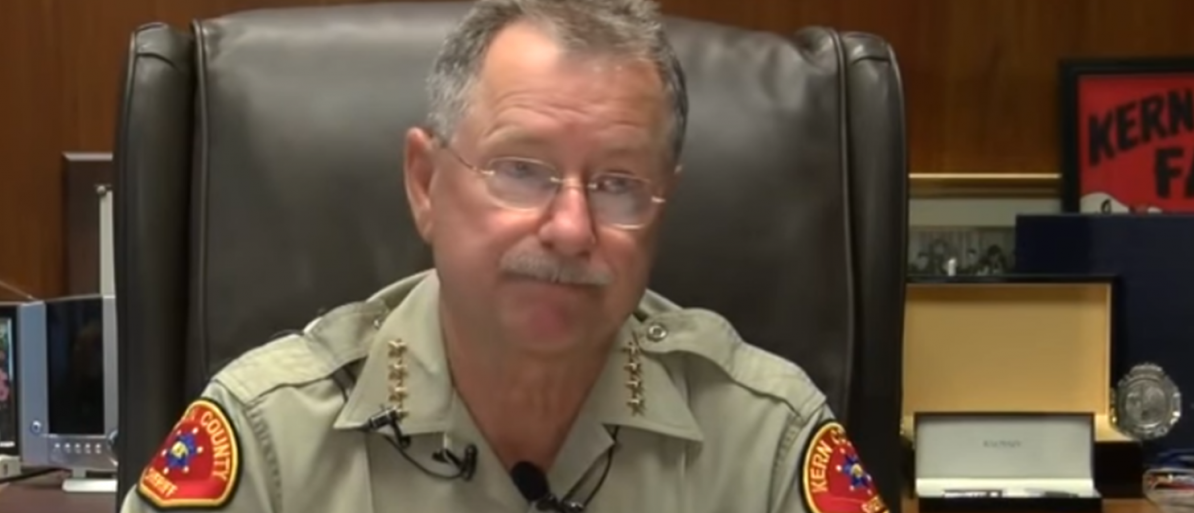 "Kern County Sheriff Donny Youngblood plans to introduce a ""law and order"" measure in opposition to California's proposed sanctuary state bill. (PHOTO: Screenshot via ABC23 Bakersfield)"
