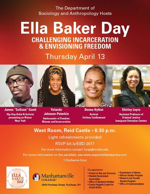 Manhattanville College Ella Baker Day event flyer