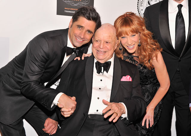NEW YORK, NY - JUNE 24: (L-R) Actor John Stamos, Don Rickles and Kathy Griffin attend The Friars Foundation Annual Applause Award Gala honoring Don Rickles at The Waldorf=Astoria on June 24, 2013 in New York City. (Photo by Stephen Lovekin/Getty Images)