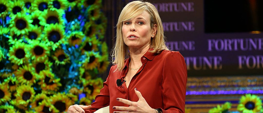 Chelsea Handler speaks onstage at the Fortune Most Powerful Women Summit 2016 at Ritz-Carlton Laguna Niguel on October 19, 2016 in Dana Point, California.  (Photo by Joe Scarnici/Getty Images for Fortune)