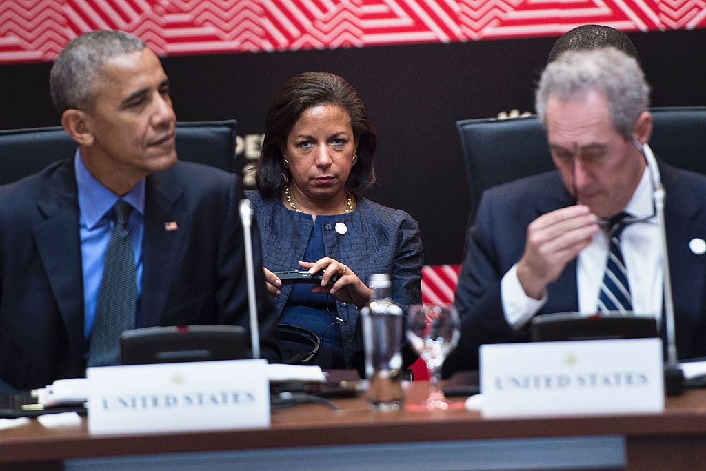 Barack Obama, Susan Rice, Michael Froman (Getty Images)