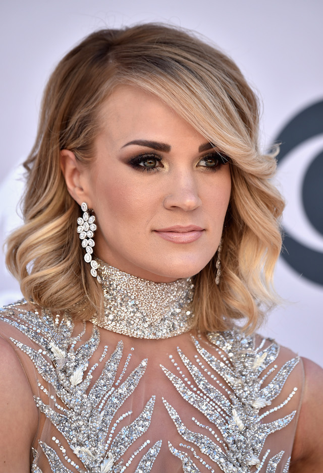 LAS VEGAS, NV - APRIL 02: Recording artist Carrie Underwood attends the 52nd Academy Of Country Music Awards at Toshiba Plaza on April 2, 2017 in Las Vegas, Nevada. (Photo by Frazer Harrison/Getty Images)