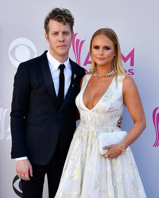 LAS VEGAS, NV - APRIL 02: Recording artists Anderson East (L) and Miranda Lambert attend the 52nd Academy Of Country Music Awards at Toshiba Plaza on April 2, 2017 in Las Vegas, Nevada. (Photo by Frazer Harrison/Getty Images)