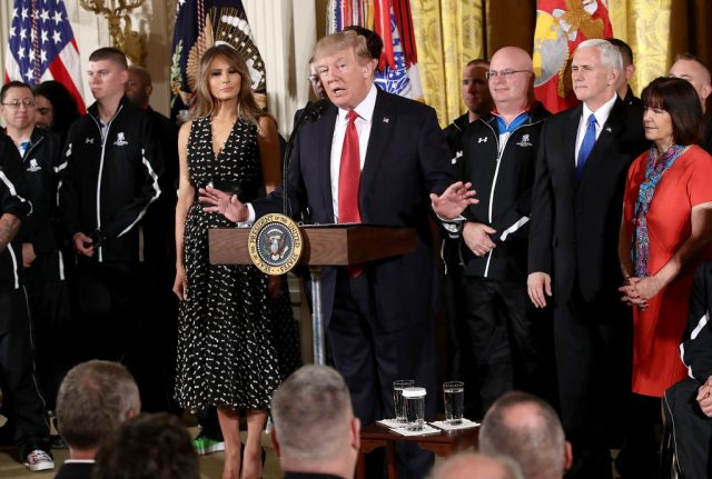 Trump welcomes wounded veterans to White House