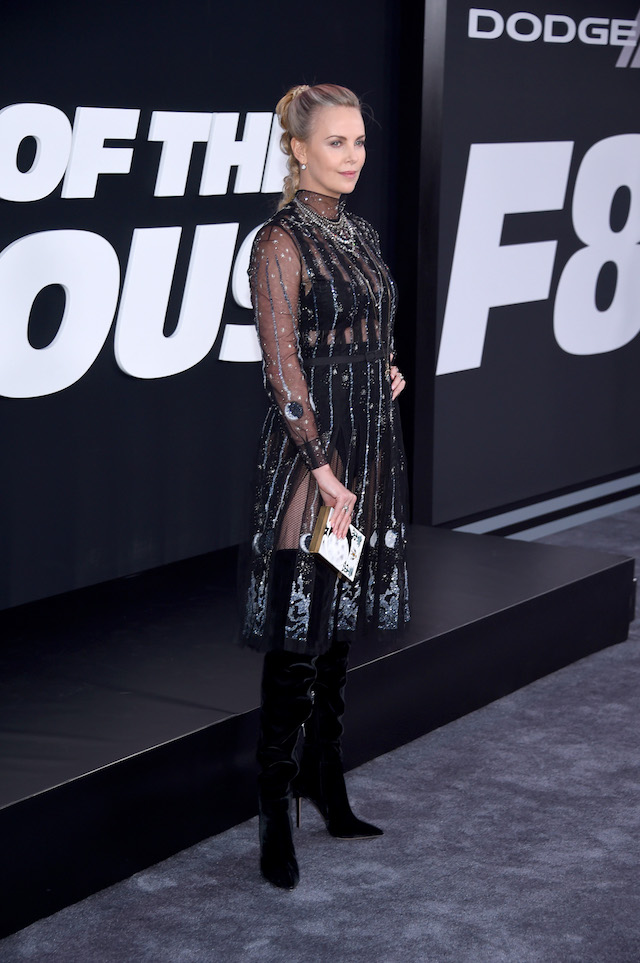 "NEW YORK, NY - APRIL 08: Actor Charlize Theron attends ""The Fate Of The Furious"" New York Premiere at Radio City Music Hall on April 8, 2017 in New York City. (Photo by Dimitrios Kambouris/Getty Images)"