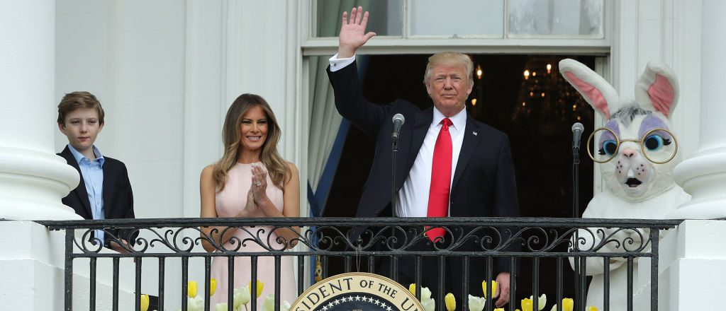 Barron, Melania and Donald Trump (Getty Images)