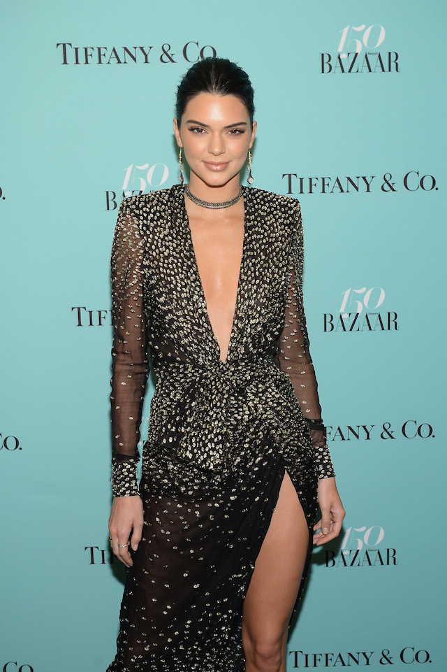 NEW YORK, NY - APRIL 19: Kendall Jenner attends Harper's BAZAAR 150th Anniversary Event presented with Tiffany & Co at The Rainbow Room on April 19, 2017 in New York City. (Photo by Andrew Toth/Getty Images for Harper's BAZAAR)