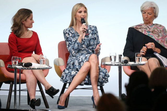 Ivanka Trump defends father, brushes aside groans in Berlin
