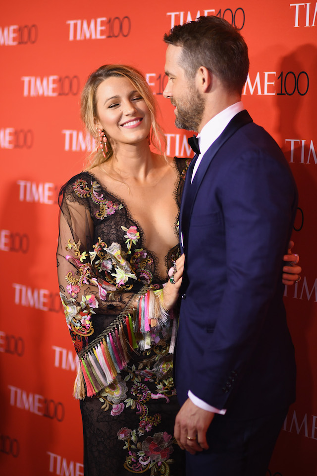 NEW YORK, NY - APRIL 25: Actors Blake Lively (L) and Ryan Reynolds attend the 2017 Time 100 Gala at Jazz at Lincoln Center on April 25, 2017 in New York City. (Photo by Dimitrios Kambouris/Getty Images for TIME)