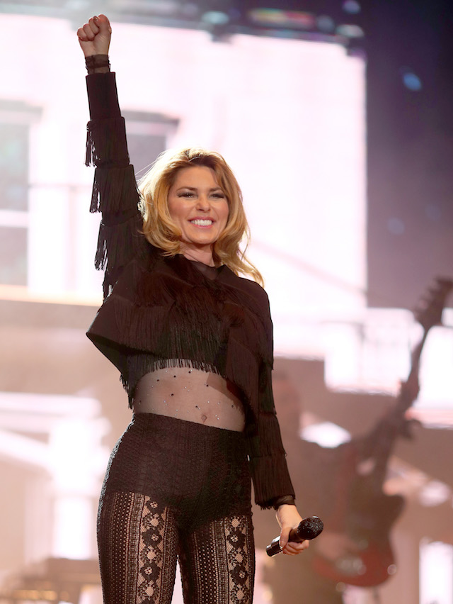 INDIO, CA - APRIL 29: Singer Shania Twain performs on the Toyota Mane Stage during day 2 of 2017 Stagecoach California's Country Music Festival at the Empire Polo Club on April 29, 2017 in Indio, California. (Photo by Christopher Polk/Getty Images for Stagecoach)