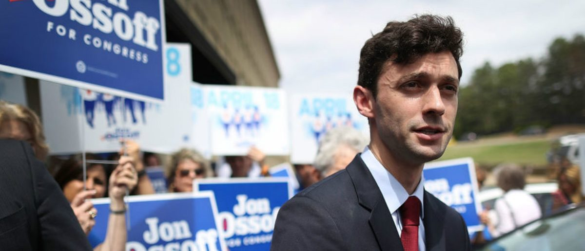 Democratic candidate Jon Ossoff speaks to the media. (Joe Raedle/Getty Images)