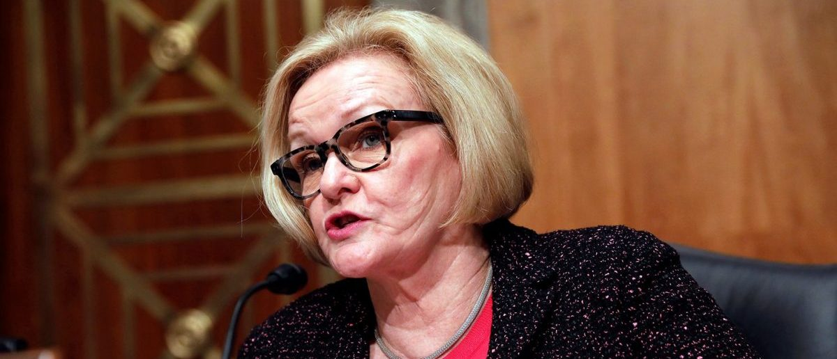 Ranking Member Sen. Claire McCaskill (D-MO) speaks prior to Homeland Security Secretary John Kelly testifying before a Senate Homeland Security and Governmental Affairs hearing on border security on Capitol Hill in Washington, D.C., U.S., April 5, 2017. (PHOTO: REUTERS/Aaron P. Bernstein)