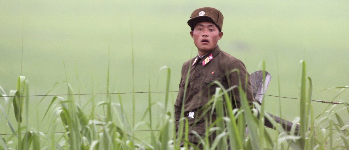 A North Korean soldier guards the banks of the Yalu River near the North Korean town of Sinuiju June 29, 2010. REUTERS/Jacky Chen