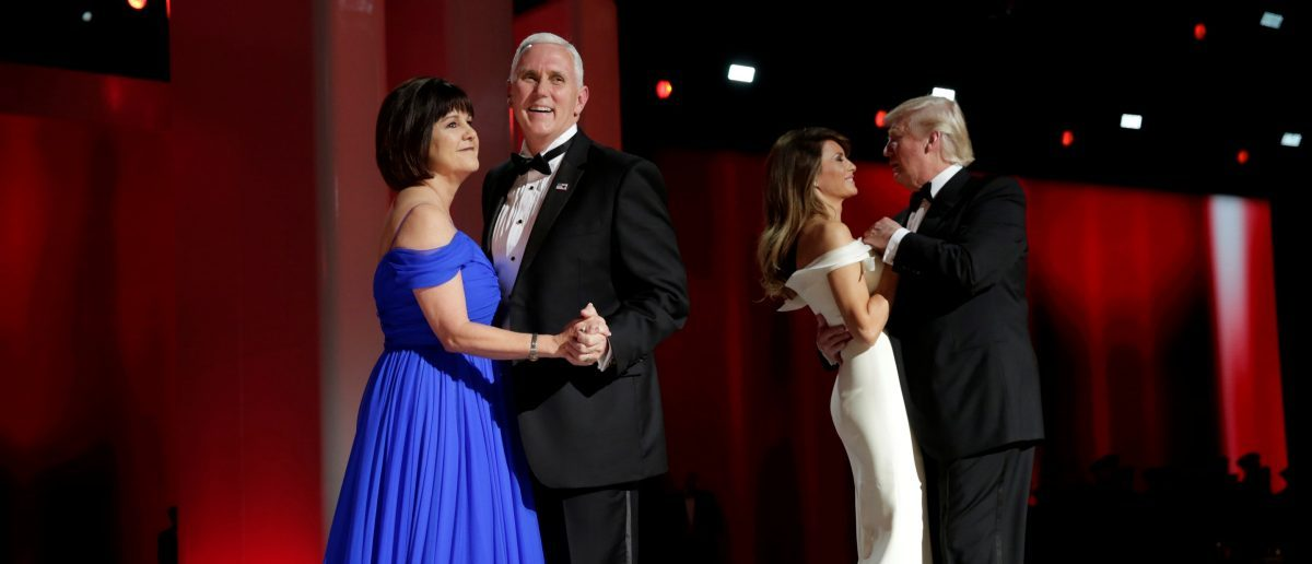 Vice President Mike Pence with his wife Karen dance at a Liberty Ball (REUTERS/Yuri Gripas)
