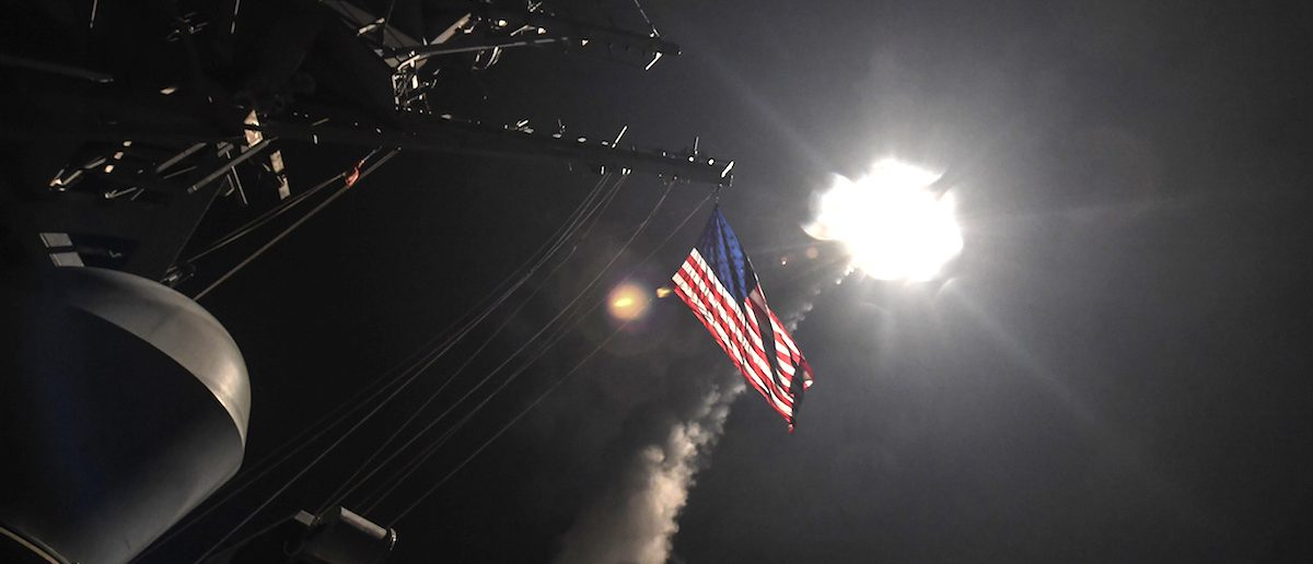 U.S. Navy launches Tomahawk missile bound for Syrian airfield from the USS Porter (DDG 78) April 7, 2017. (Photo: Ford Williams/Courtesy U.S. Navy/Handout via Reuters)