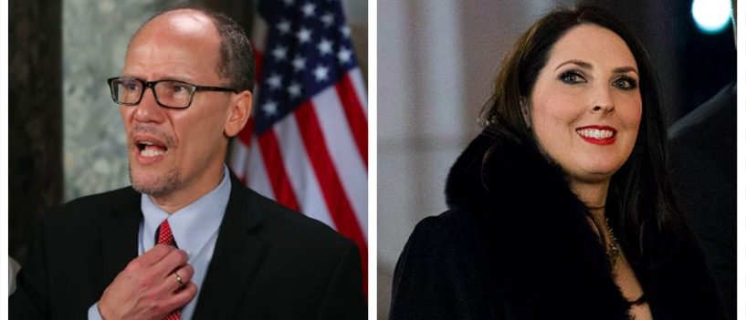 Tom Perez, Ronna McDaniel (Getty Images)