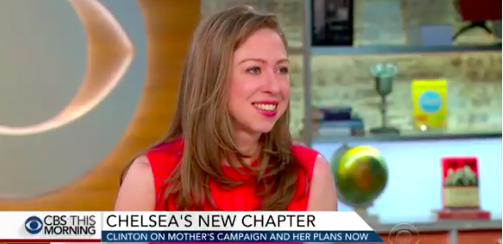 Chelsea Clinton on CBS This Morning, screen capture from Twitter video