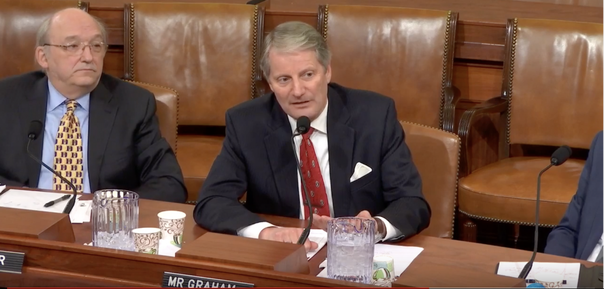 ohn R. Graham testifying before the House Ways and Means Committee Screenshot/YouTube/NCPAIDES