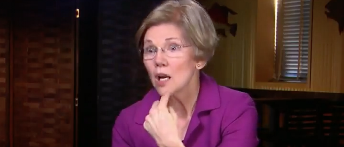 "Elizabeth Warren interviewed on ""CBS This Morning,"" April 16, 2017. (YouTube screen grab/CBS)"