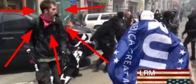 Antifa Bro Loses His Mask — Gets Maced And Hit In The Face By His Fellow Protesters [VIDEO]