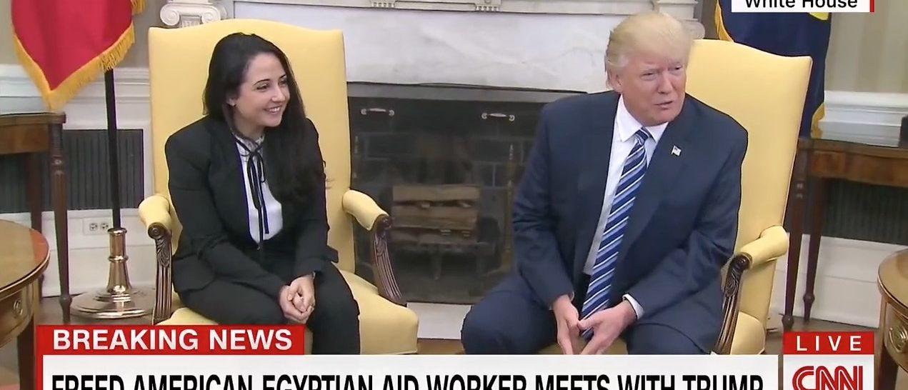 Aya Hijazi, Donald Trump (CNN)
