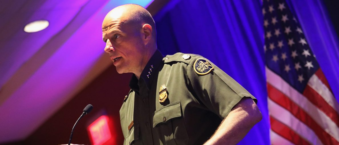 U.S. Border Patrol Chief Ronald Vitiello speaks at the Border Security Expo on April 12, 2017 at the Henry B. Gonzalez Convention Center in San Antonio, Texas.(PHOTO: John Moore/Getty Images)